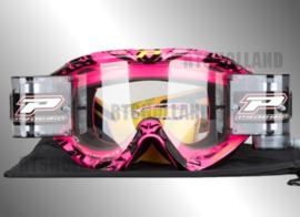 ProGrip XL crossbril roze/zwart