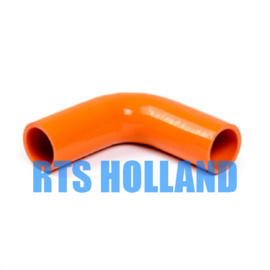 Siliconen bocht 90º graden ø 25mm oranje