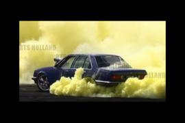 Extreme smoking 225/45R17 drifttyres