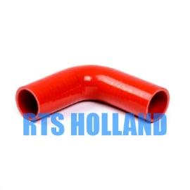 Siliconen bocht 90º graden ø 25mm rood