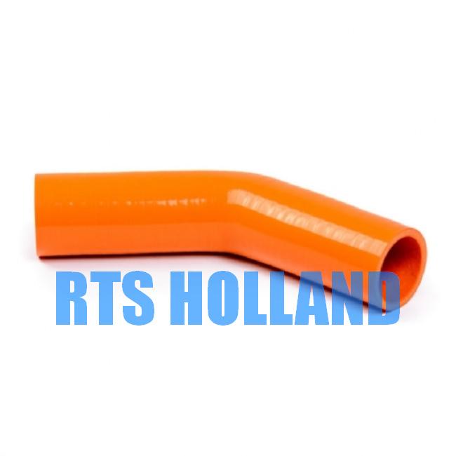 Siliconen bocht 45º graden ø 45mm oranje