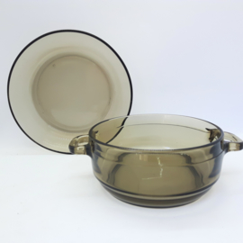 vintage rookglas - soepkom