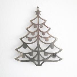 vintage kerstboom - RVS
