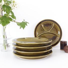 vintage fondue/ vakken bord - per 5