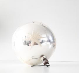 XL vintage kerstbal met ster