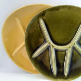 fondue bord @France - set van 2 - vintage