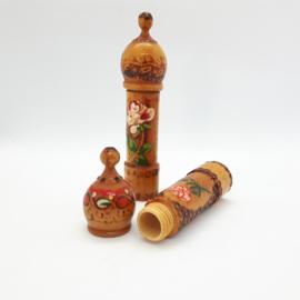 vintage naaldenkokertje - hout