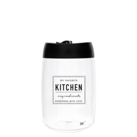 Bastion Collections voorraadpot l kitchen - zwart