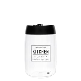 Bastion Collections voorraadpot glas l kitchen - zwart