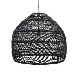 HKliving hanglamp wicker m - zwart