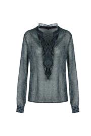 G-maxx blouse - blauw/grijs