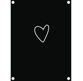 Label-R tuinposter hart - zwart