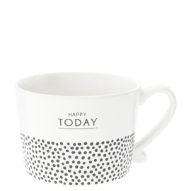 Bastion Collections mok l happy today dots - zwart