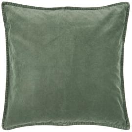 Ib Laursen kussenhoes velvet 50x50 - dusty green