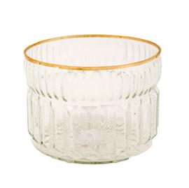 MrsBloom waxinelichthouder glas - l