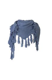 Stapelgoed gebreide sjaal - blauw
