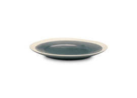 vtwonen ontbijtbord ∅21,5 cm - blauw/grijs