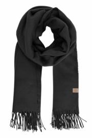 Zusss sjaal basic met franjes - zwart