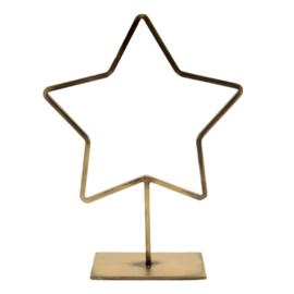 MrsBloom ster staand l - goud
