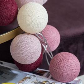 Cotton ball lights - rosegarden