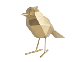 Present Time vogel metaal l - goud