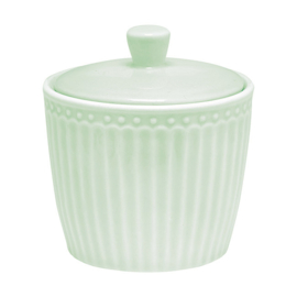 Greengate sugarbowl  - alice pale green