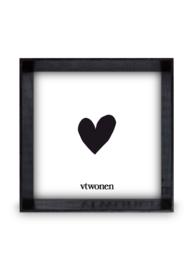 vtwonen fotolijst zwart hout 18x18 cm