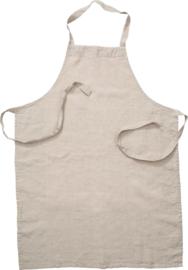 ERNST keukenschort linnen - naturel