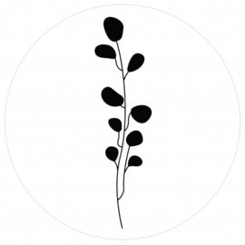 Label-R muurcirkel leaves - wit