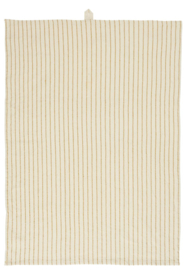 Ib Laursen theedoek stripes - naturel/mosterd