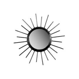 MrsBloom spiegel rond S - zwart