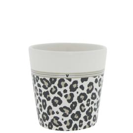 Bastion Collections beker leopard - zwart