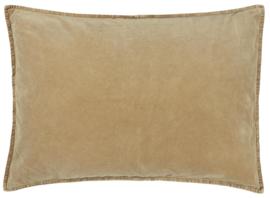 Ib Laursen kussenhoes velvet 60x40 - mustard