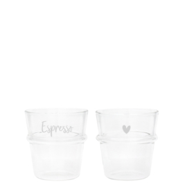 Bastion Collections glas espresso - wit