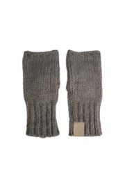 Zusss gebreide handschoenen - grijs/groen