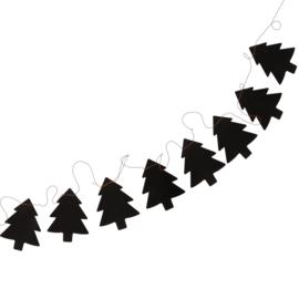Slinger kerstboom - zwart