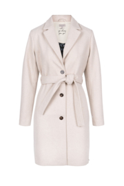 Zusss trenchcoat wollig - creme