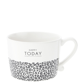 Bastion Collections mok l happy today leopard - zwart