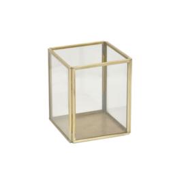 Glazen box 8x8 - messing