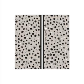 Bastion Collections servetten happy dots - titaan