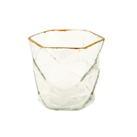 MrsBloom waxinelichthouder glas - s