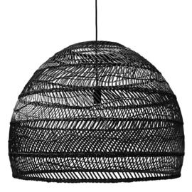 HKliving hanglamp wicker l - zwart