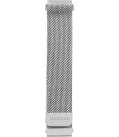 OOZOO smartwatch losse band metaal - zilver