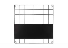 vtwonen memobord vierkant - zwart
