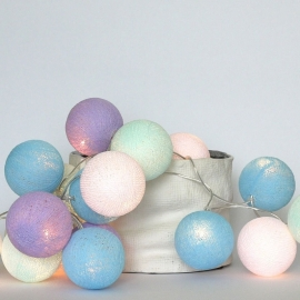 Cotton ball lights - color