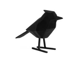 Present Time vogel fluweel l - zwart