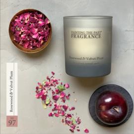 Painting the Past geurkaars - rosewood / velvet plum