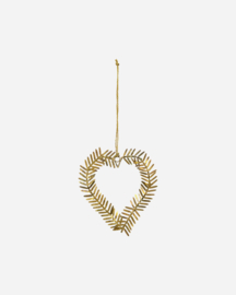 House Doctor hart - antiek brass