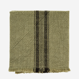 Madam Stoltz theedoek stripe - green
