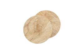 Leeff onderzetters hout s/2